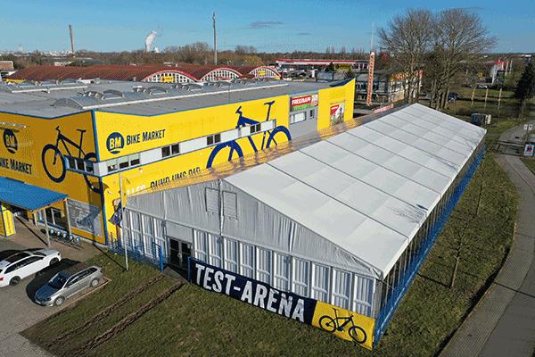 BIKE Market Rostock Schutow Dronenbild Testarena