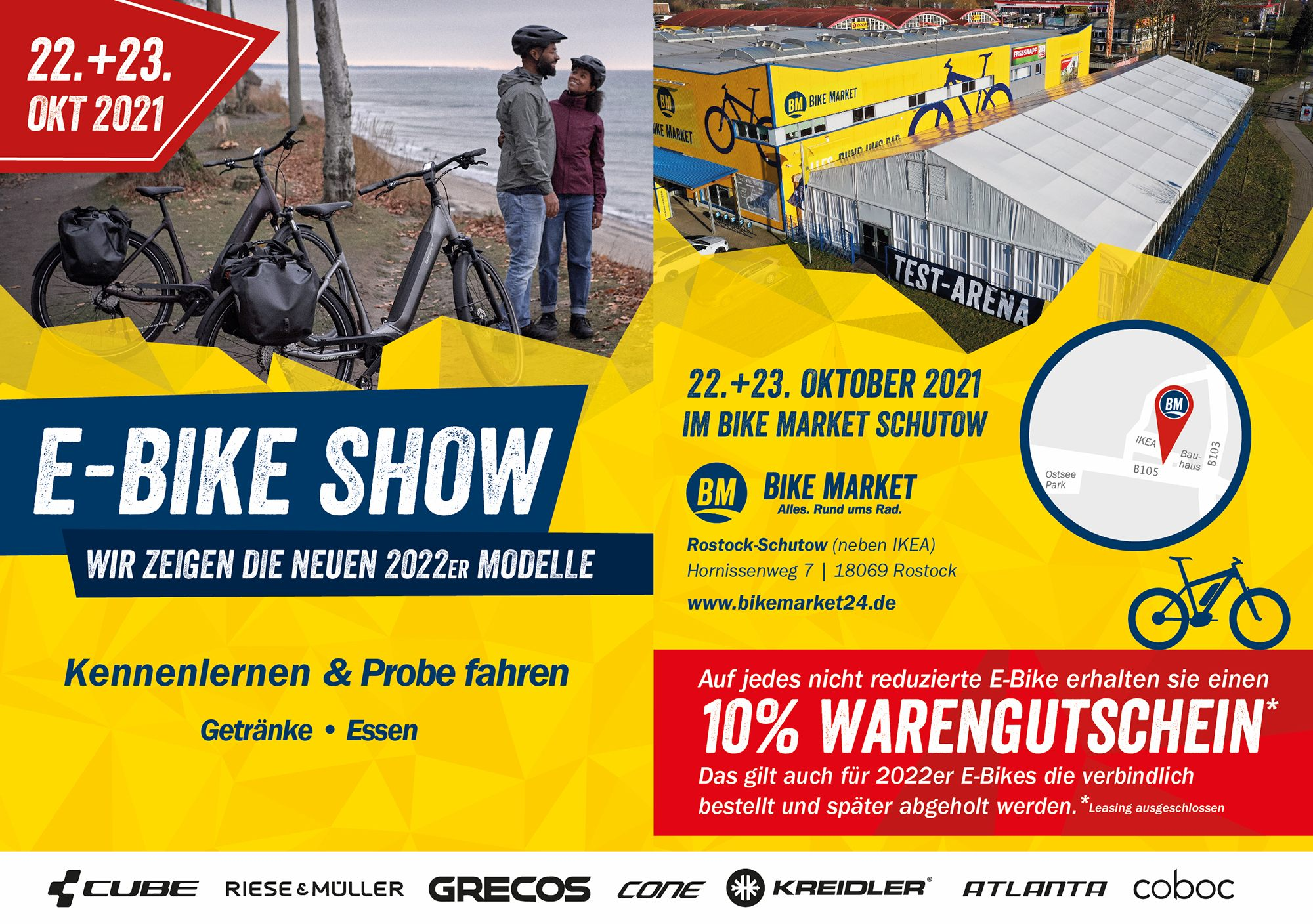 Flyer eBIKE Show vom BIKE Market Rostock