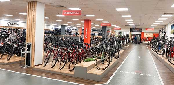 CUBE Store Rostock Indoor Probefahrtstrecke